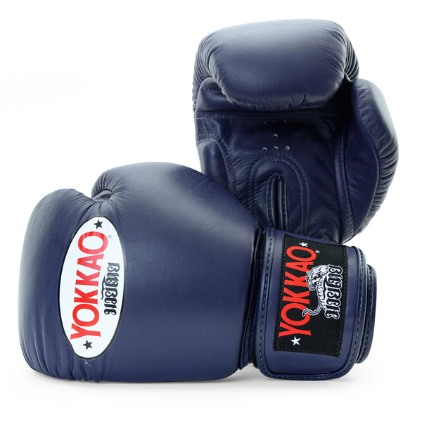 Matrix Evening Blue Muay Thai Gloves - YOKKAO