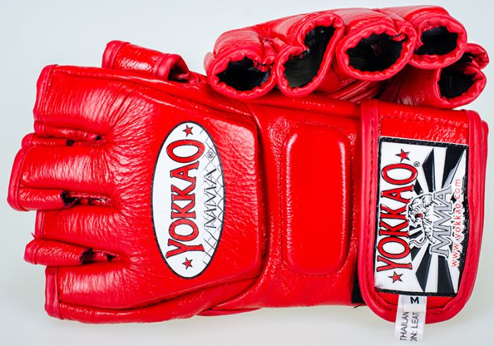 YOKKAO Red Competition MMA Gloves With Thumb - YOKKAO