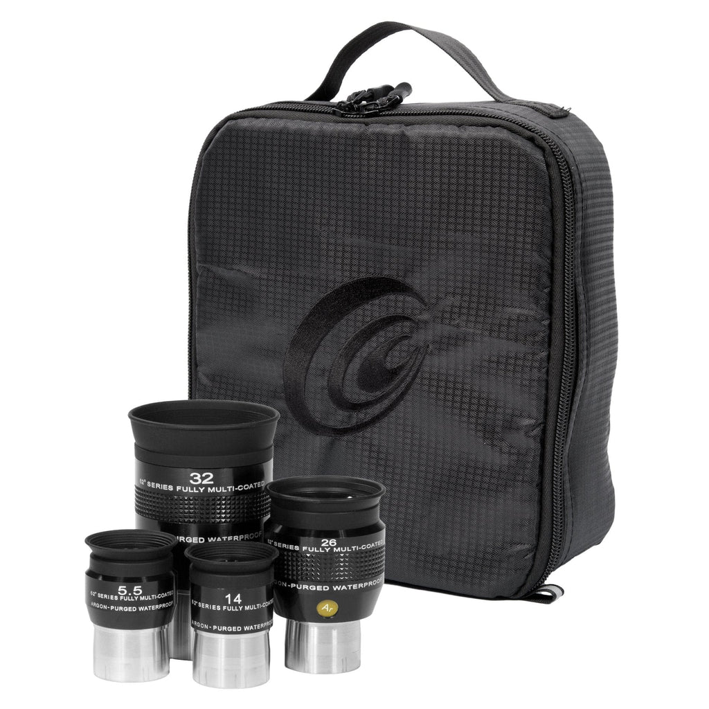 Explore Scientific 5.5mm, 14mm, 26mm and 32mm 62 Degree Waterproof Eyepieces - EPWP62KIT