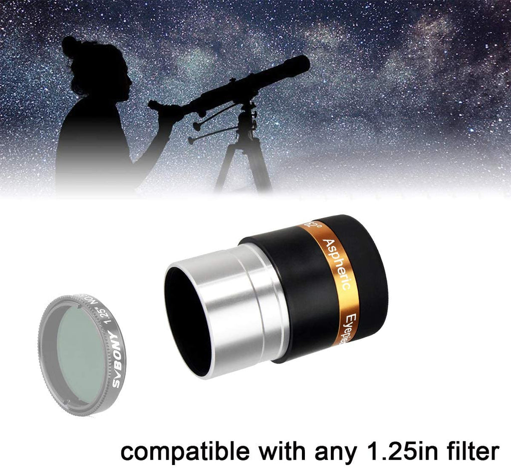 "SVBony 68 Degree 1.25"" 5-Element Plossl Eyepiece"