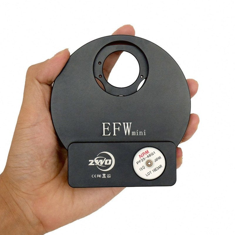 "ZWO 5 Position 1.25"" or 31mm  Mini Electronic Filter Wheel - ZWO-EFW-MINI"