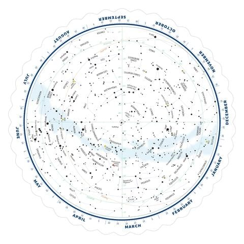 Tirion Double-Sided Multi-Latitude Planisphere with Astro R-Lite - ES-TPS018-ARL