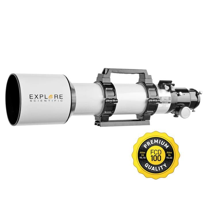 Explore Scientific 102mm Air-Spaced Triplet Apochromat Refractor Telescope - FCD100-10207-01
