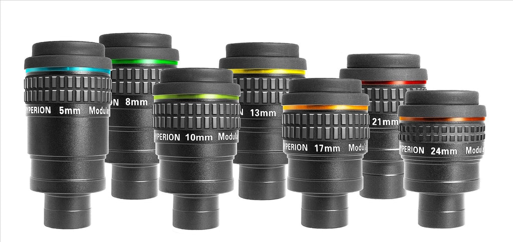 Baader Complete Eyepiece Set Consisting of All 7 Hyperion Eyepieces - Now Includes Fitted Case - 2454600
