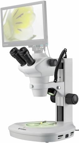 Bresser .8x-5x Stereo-Zoom with 10x Eyepieces Science ETD-201 Incident/Transmission Microscope - 5806200