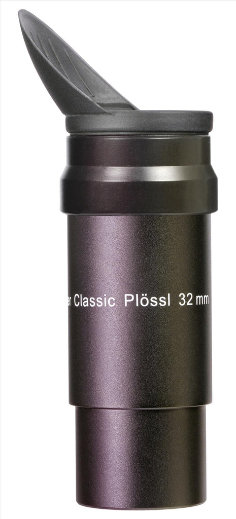 "Classic Plössl 32mm, 1¼"" Eyepiece (HT-mc) - w.aux spacer tube and winged rubber eyecup"