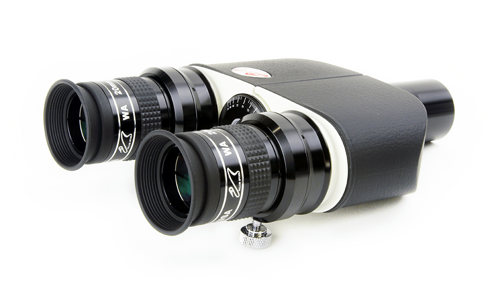 William Optics Binoviewers, 2x 20 mm 1.25 W.A. 66 deg. Eyepieces, 1.6x Barlow nosepiece - E-BINO-P