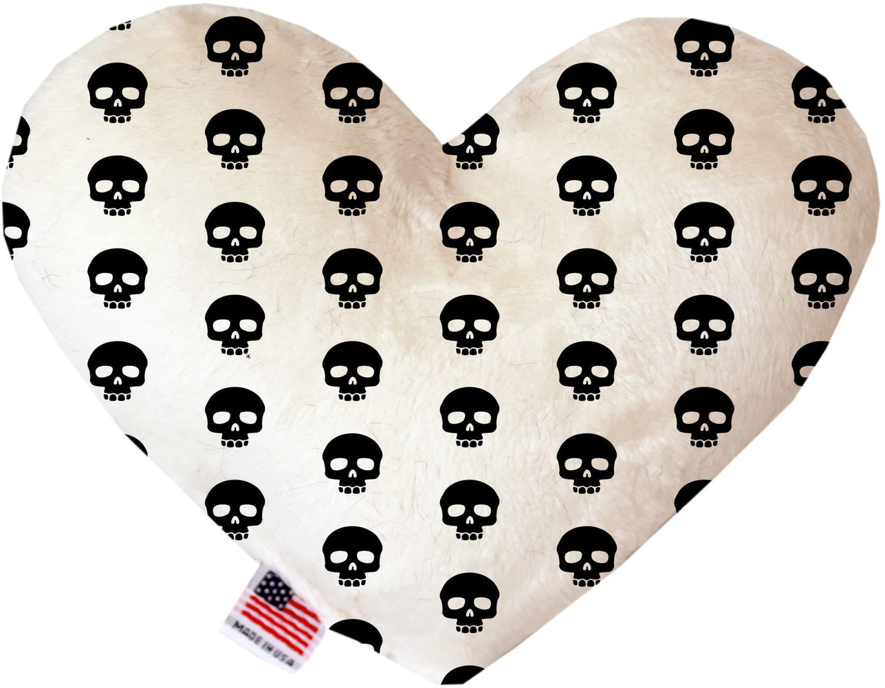 Skulls Canvas Heart Dog Toy