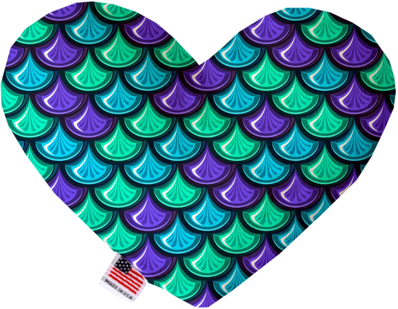 Mermaid Scales Canvas Heart Dog Toy