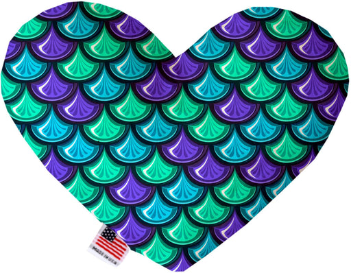 Mermaid Scales Stuffing Free Heart Dog Toy