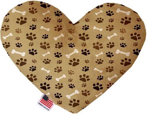 Mocha Paws Canvas Heart Dog Toy