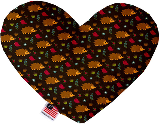 Hedgehogs Canvas Heart Dog Toy