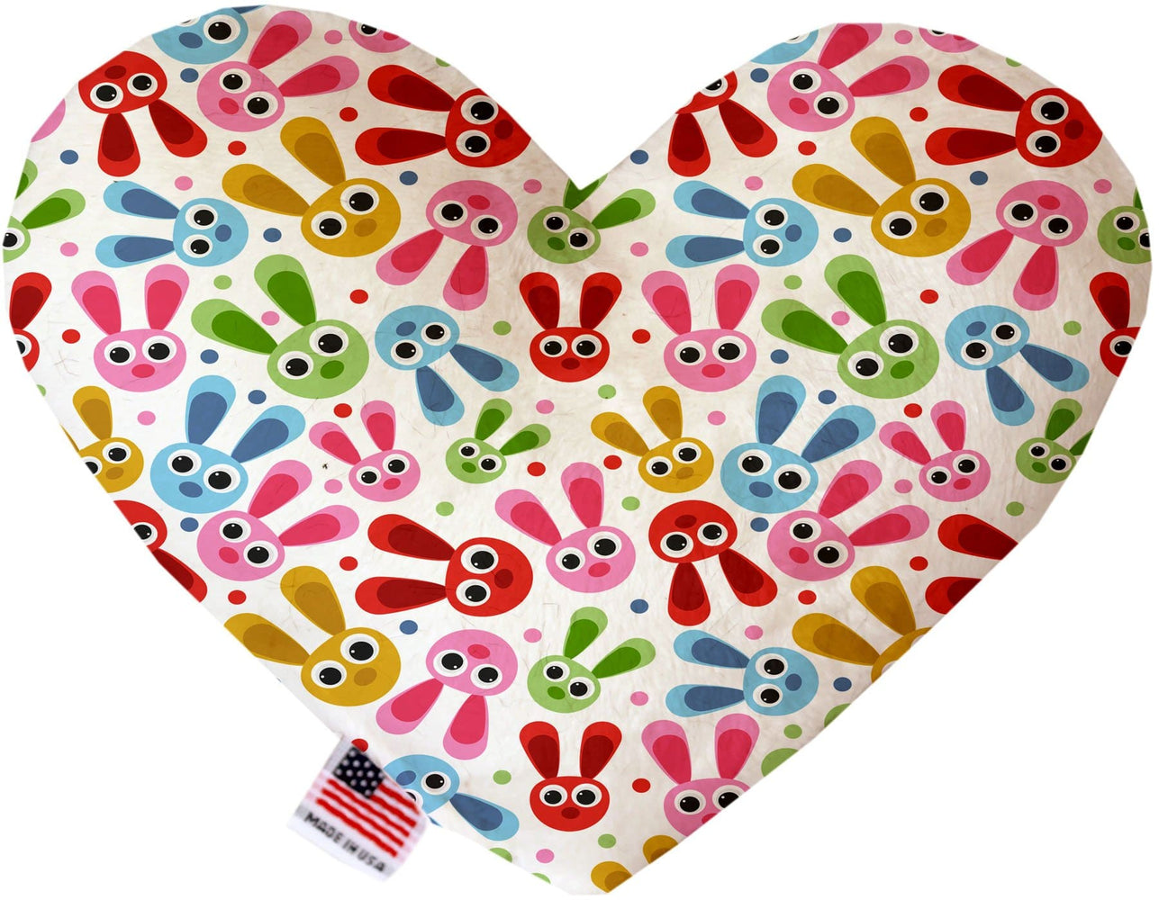 Funny Bunnies Canvas Heart Dog Toy