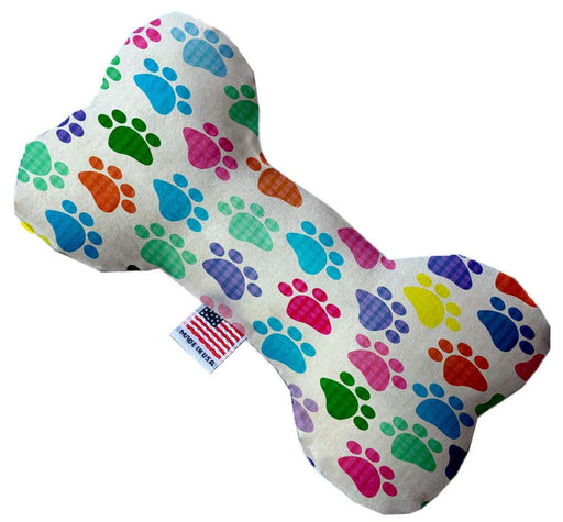 Confetti Paws Canvas Bone Dog Toy
