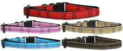 Plaid Nylon Dog Collars
