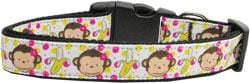 Monkeys and Bananas Nylon Dog Collar