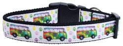 Peace Bus Nylon Dog Collar
