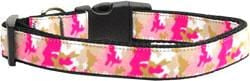 Pink Camo Nylon Dog Collars