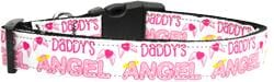 Daddy's Angel Nylon Dog Collar
