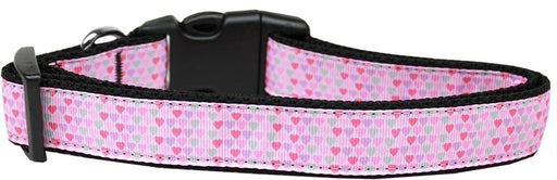 Many Mini Hearts Nylon Dog Collar