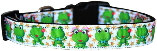 Happy Frogs Nylon Dog Collars