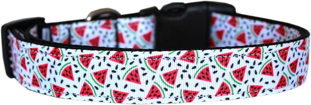 Watermelon Nylon Dog Collar