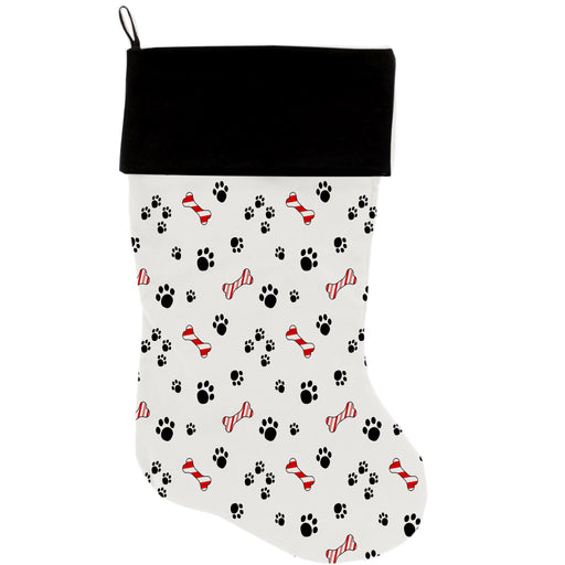 "Sweet Paws 18"" Velvet Christmas Stocking"