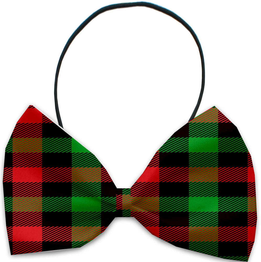 Christmas Plaid Pet Bow Tie