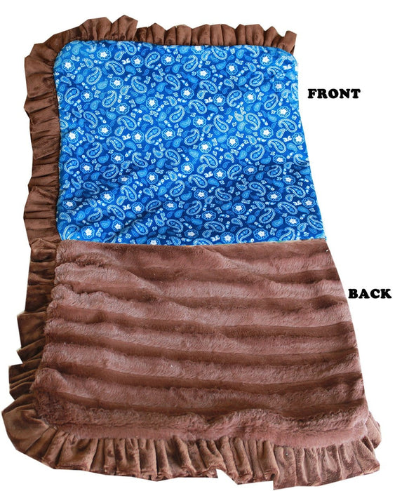 Blue Western Luxury Blanket