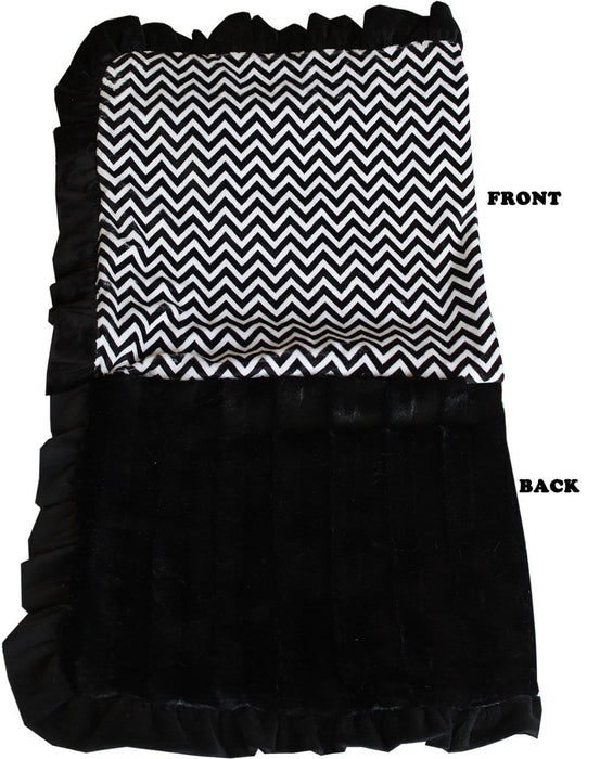 Black Chevron Luxury Blanket