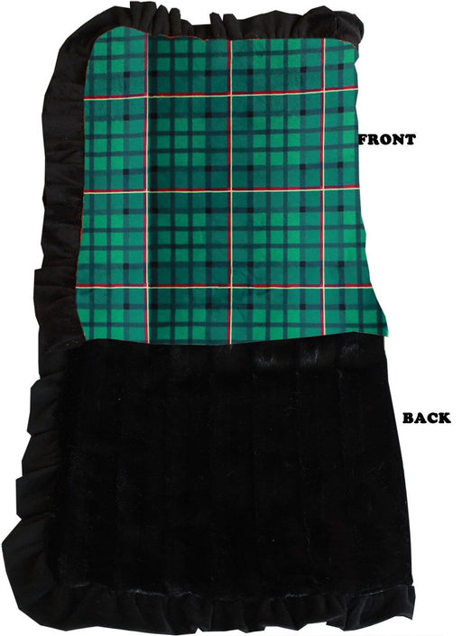 Green Plaid Luxury Blanket