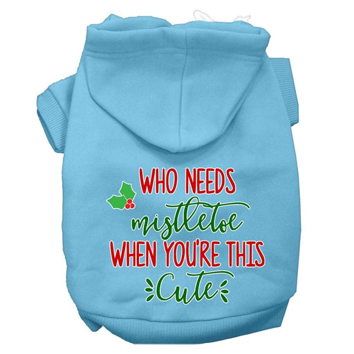 Who Needs Mistletoe When You're This Cute Screen Print Pet Hoodie