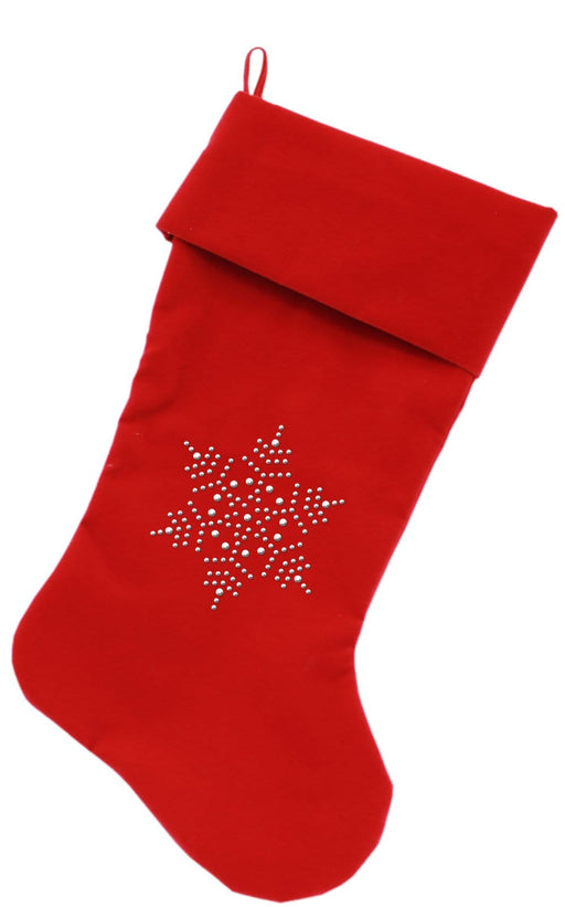 "Snowflake Rhinestone 18"" Velvet Christmas Stockings"