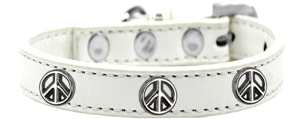 Peace Sign Widget Dog Collars
