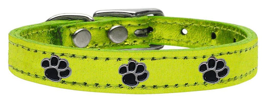Metallic Paw Leather Collars