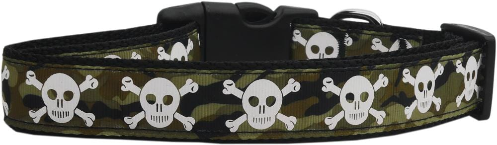 Camo Skulls Nylon Cat Collar