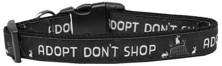 Adopt Don't Shop Nylon Cat Collar