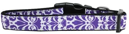 Damask Purple Nylon Cat Collar