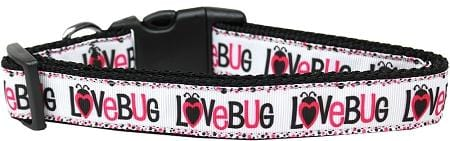Love Bug Nylon Dog Collar