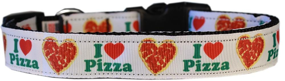 Pizza Party Nylon Dog Collar