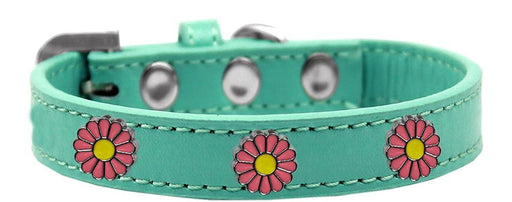 Pink Daisy Widget Dog Collars