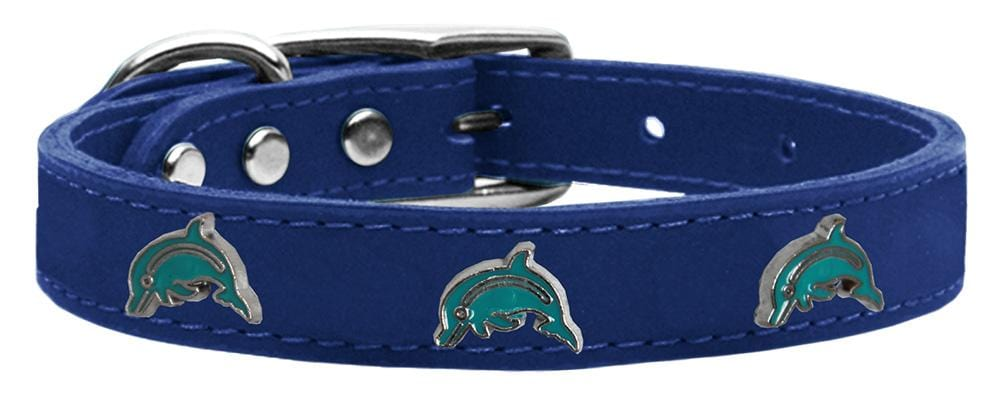 Dolphin Widget Genuine Leather Dog Collars