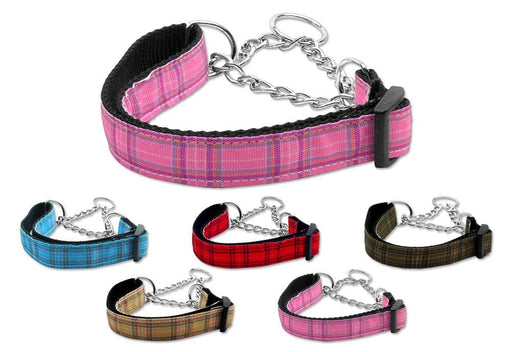 Plaid Nylon Martingale Collars