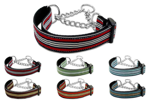 Preppy Stripes Nylon Martingale Collars
