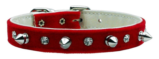 Velvet Crystal and Spike Dog Collars