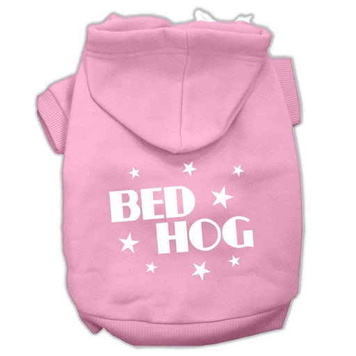 Bed Hog Screen Print Dog Hoodie