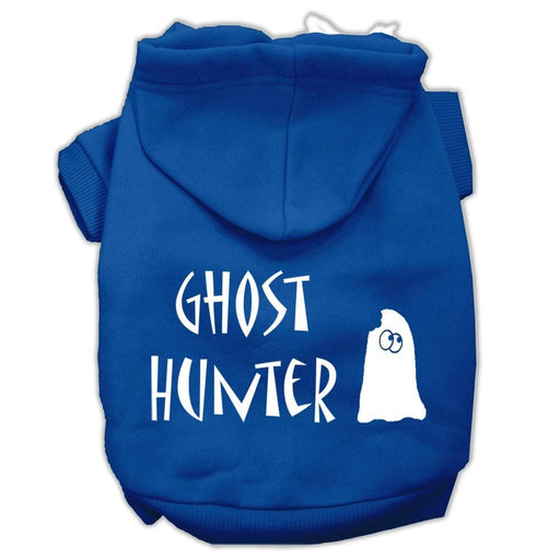 Ghost Hunter Screen Print Dog Hoodie