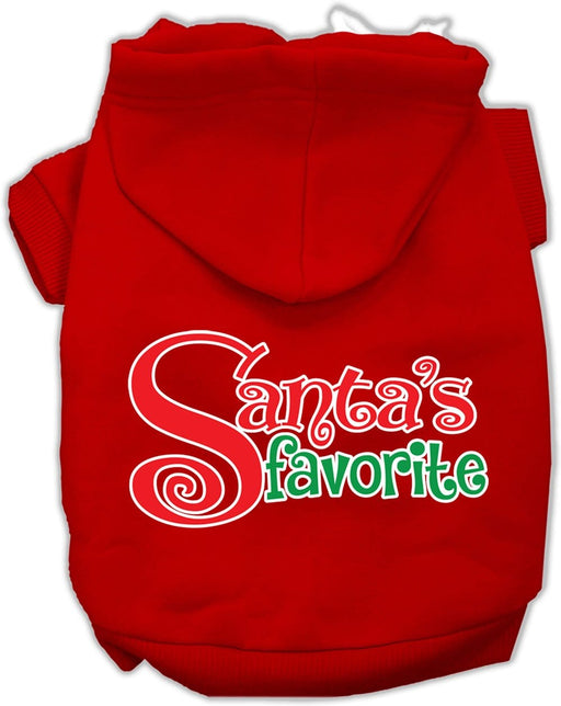 Santa's Favorite Screen Print Dog Hoodie