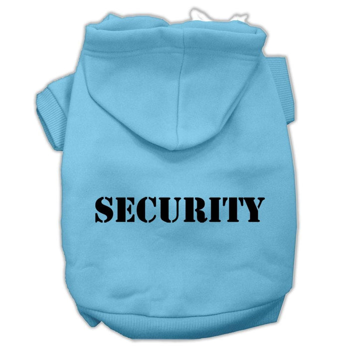 Security Screen Print Pet Hoodie