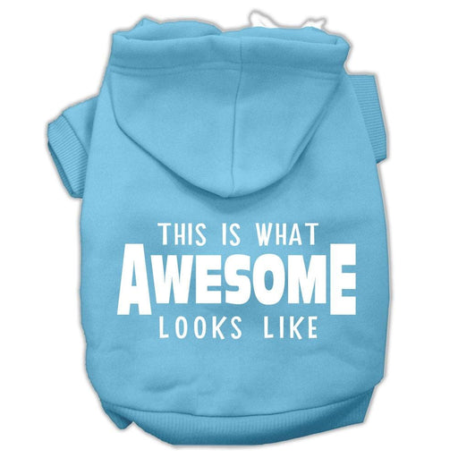 This is What Awesome Looks Like Screen Print Pet Hoodie